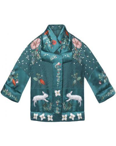 Шерстяной пиджак - зеленый Alena Akhmadullina