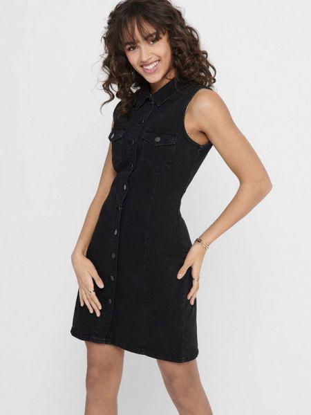 Джинсовое платье черное весеннее Jacqueline De Yong