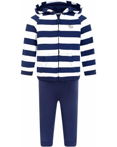 Костюмный хлопковый синий спортивный костюм Mayoral