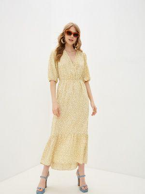 Желтое платье с запахом Missguided