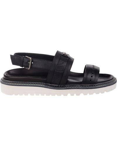 Черные кожаные сандалии John Richmond