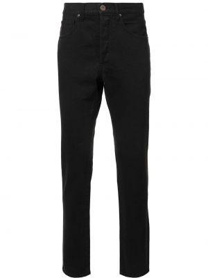Зауженные черные джинсы-скинни из микрофибры 321
