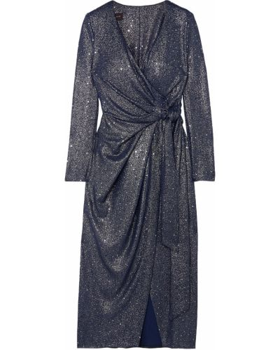 Текстильное платье миди с пайетками стрейч Talbot Runhof