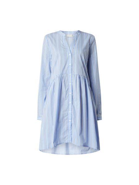 Sukienka rozkloszowana w paski z długimi rękawami Kaffe