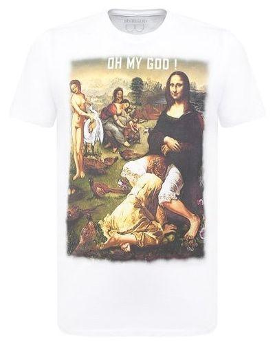 Хлопковая повседневная белая футболка Bisibiglio