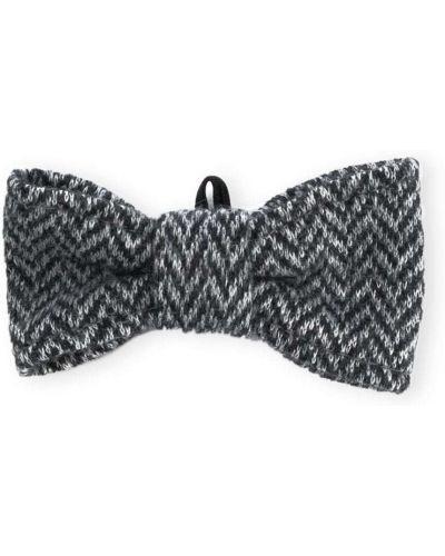 Хлопковый серый галстук-бабочка с бабочкой Il Gufo