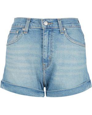 Джинсовые шорты с завышенной талией короткие Levi's®