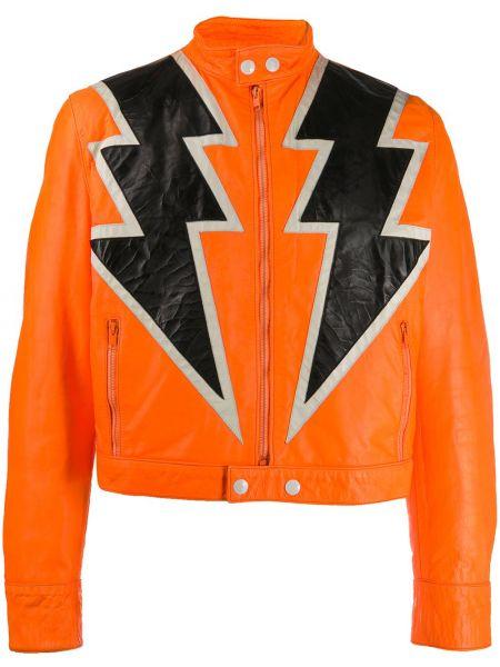Пиджак с воротником-стойка на молнии с манжетами из вискозы Walter Van Beirendonck Pre-owned