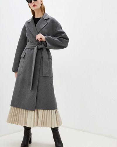 Пальто демисезонное серое French Connection