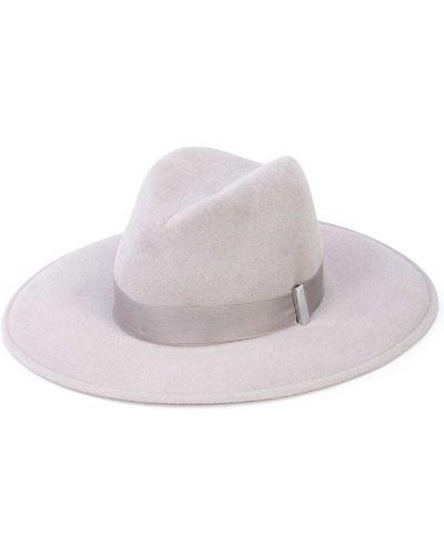 Серебряная шапка из кролика Gigi Burris Millinery