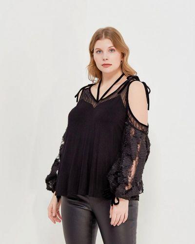 Черная блузка Lost Ink Plus
