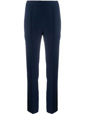 Синие брюки узкого кроя на молнии Hebe Studio