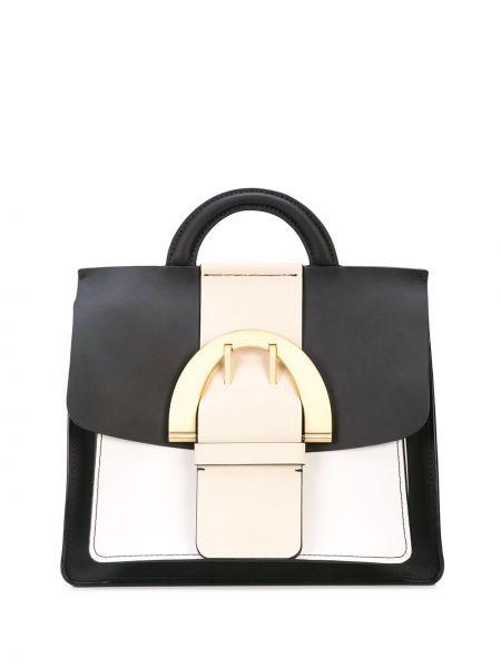 Skórzany plecak czarny z klamrą Zac Zac Posen