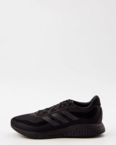 Текстильные черные низкие кроссовки Adidas