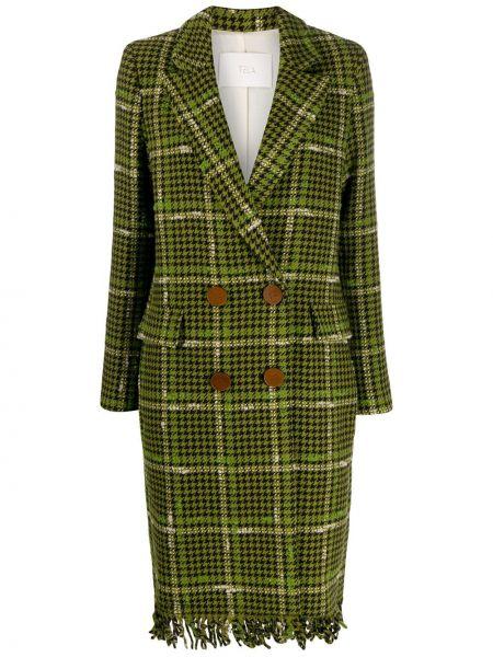 Пальто с бахромой пальто Tela