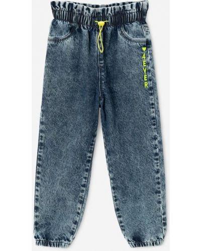 Джинсы на резинке - синие Gloria Jeans