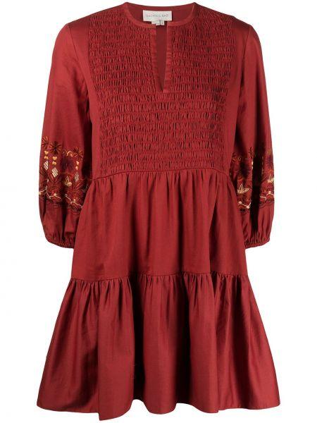 Brązowa sukienka bawełniana Sachin & Babi