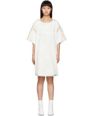 Джинсовое платье синее с воротником Mm6 Maison Margiela