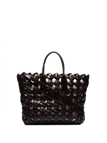Czarna torba na ramię skórzana Bottega Veneta