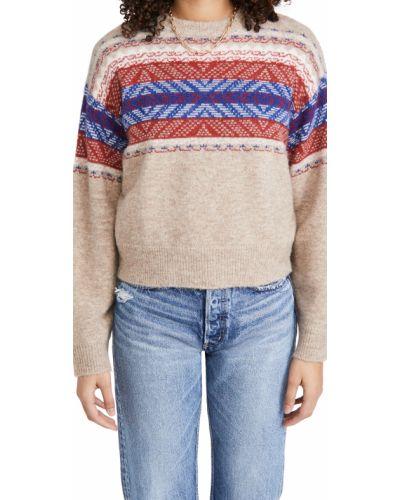 Prążkowany długi sweter wełniany z długimi rękawami Rag & Bone