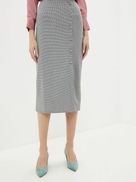 Белая юбка карандаш с рукавом 3/4 Knitman