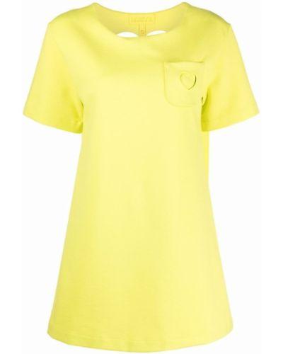 Платье с карманами - желтое Paskal