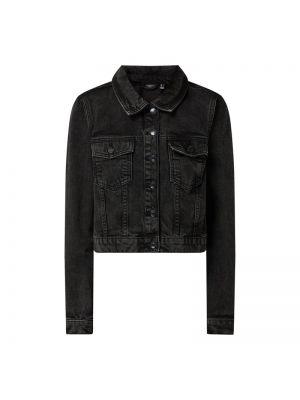 Bawełna czarny kurtka jeansowa z kołnierzem Vero Moda