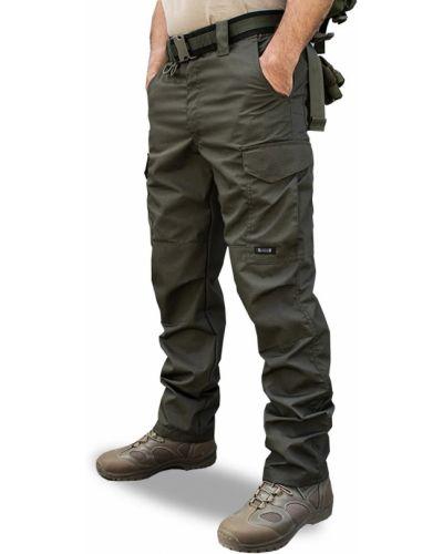 Брюки карго с карманами милитари свободного кроя армолайн
