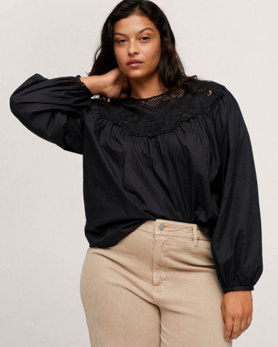 Черная блузка осенняя Violeta By Mango