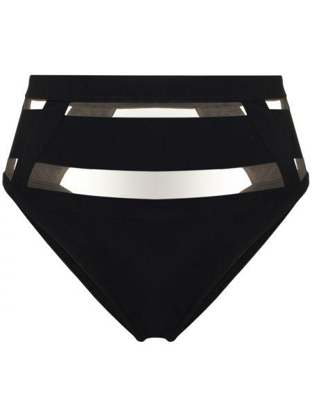 Черные плавки бикини с высокой посадкой прозрачные Agent Provocateur