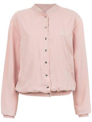 Прямая розовая длинная куртка круглая Olympiah