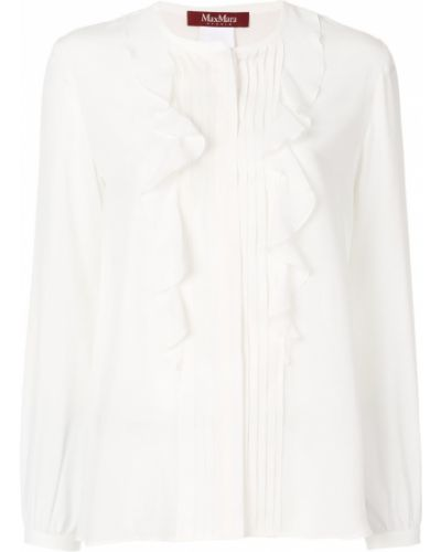 Шелковая блузка - белая Max Mara Studio