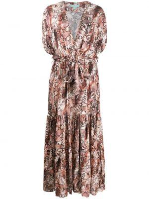 Розовое платье макси с V-образным вырезом из вискозы Melissa Odabash