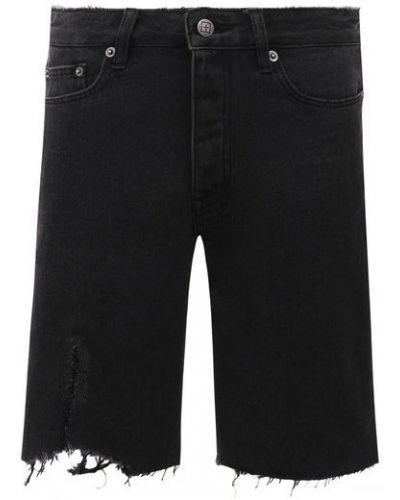 Джинсовые шорты - черные Ksubi