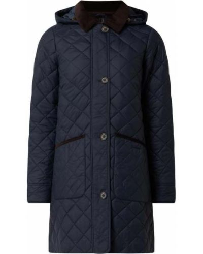 Niebieski płaszcz pikowany Barbour