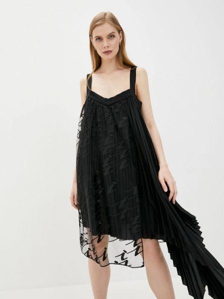 Вечернее платье черное весеннее Iceberg