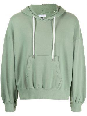 Zielona bluza z kapturem bawełniana Facetasm