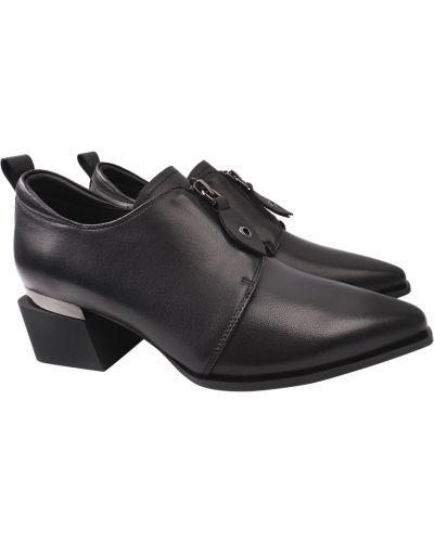Кожаные туфли - черные Angelo Vani
