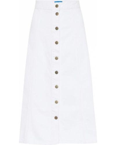 Джинсовая юбка миди - белая Mih Jeans