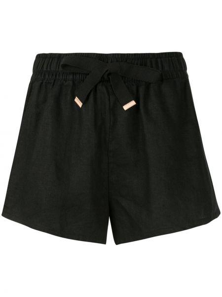 Черные короткие шорты с карманами на шнурках Venroy