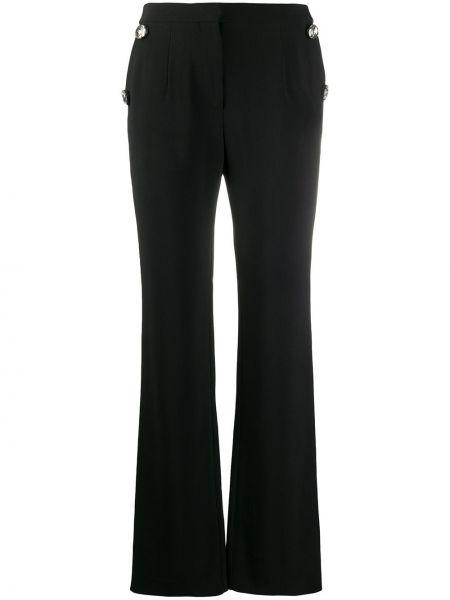 Z wysokim stanem spodni czarny spodnie z kieszeniami Christopher Kane