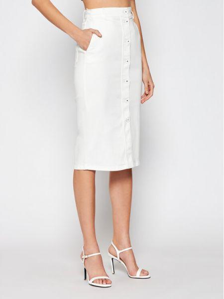 Spódnica jeansowa - biała Marella