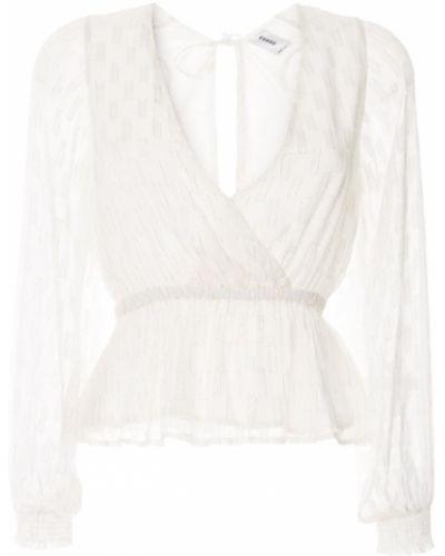 Блузка с декольте - белая Suboo