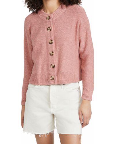 Ватный хлопковый длинный свитер с длинными рукавами Madewell