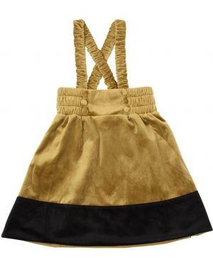 Złota spódnica z wysokim stanem Carbon Soldier