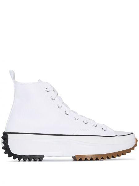 Высокие кроссовки на каблуке на толстой подошве Converse