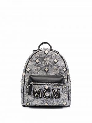 Кожаная сумка - серый Mcm