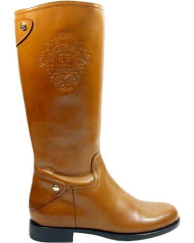Сапоги коричневый кожаный Baldinini