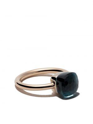 Niebieski złoty pierścionek na co dzień Pomellato