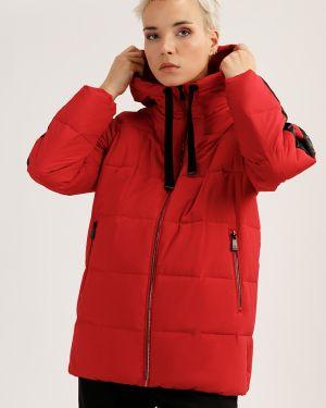 Утепленная куртка красная с перьями Finn Flare